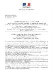 Arrêté préfectoral du 28 juin 2013 - Parc naturel régional de ...