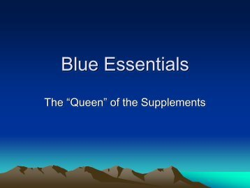 Blue Essentials - Powered By Freedom