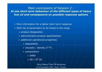 Session 2 conclusions - Cedre