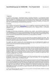 Allgemeine Geschäftsbedingungen (Stand: 31.01.2013) - Viennatime