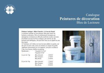 Peintures de décoration - Bleu de Lectoure
