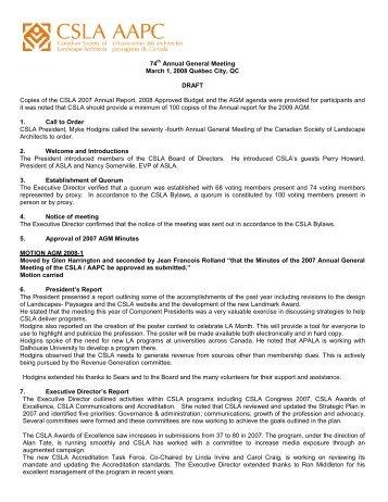2008 AGM Minutes - CSLA
