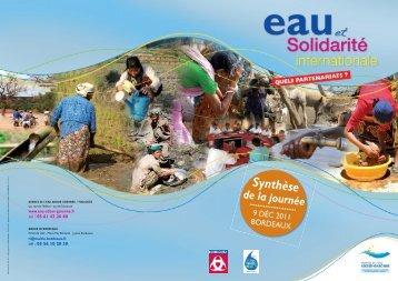 Eau et solidarité internationale - Agence de l'eau Adour-Garonne
