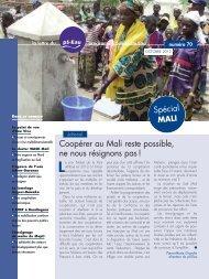spécial MALI - Programme Solidarité Eau