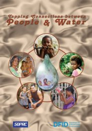 tapping the connections - SOPAC Water, Sanitation and Hygiene