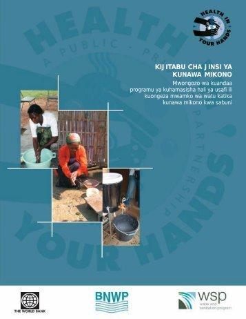 kijitabu cha jinsi ya kunawa mikono - Programme Solidarité Eau