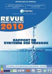 Rapport de la revue annuelle conjointe 2010 du PEPAM (PDF – 6.7 ...