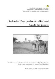 Adduction d'eau potable en milieu rural Guide des projets