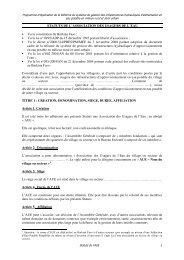 Statuts de l'AUE - Portail du secteur de l'eau au Burkina Faso