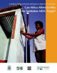 Can Africa Afford to Miss the Sanitation MDG Target? - WSP