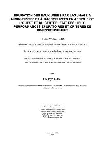Epuration des eaux usees horus - Lagunage des eaux usees ...