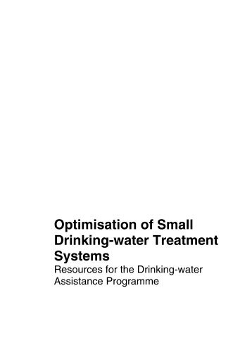 Optimisation of Small Drinking-water Treatment Systems