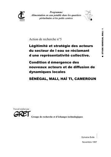 AR5 Etude Sénégal Mali 1 - Programme Solidarité Eau