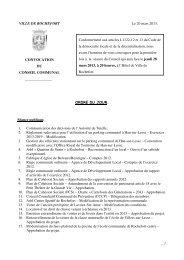 VILLE DE ROCHEFORT Le 20 mars 2013. CONVOCATION DU ...
