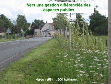 La gestion différenciée des espaces publics - Le SAGE de la Canche