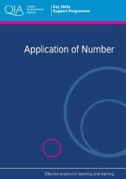 Application of Number - Excellence Gateway