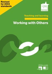 Teaching and learning: Working with others - Excellence Gateway