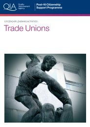 Trade Unions (July 2008) - Excellence Gateway