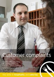 Hospitality – Complaints - Excellence Gateway