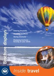 Travel: brochure displays - Excellence Gateway