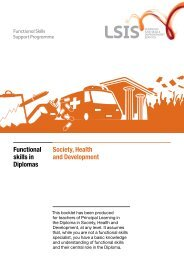 Society, Health and Development Functional skills in Diplomas
