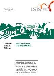 Environmental and Land-based Studies Functional skills in Diplomas