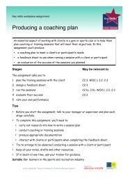 Producing a coaching plan - Excellence Gateway