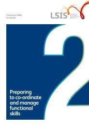 Preparing to co-ordinate and manage functional skills - Excellence ...