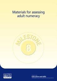 Diagnostic Assessment Material Numeracy Milestones 8