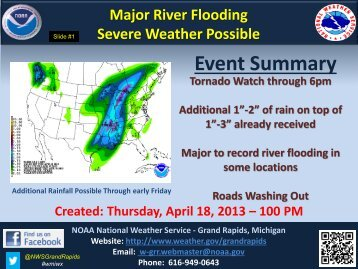 Weather Briefing for April 18 - NOAA