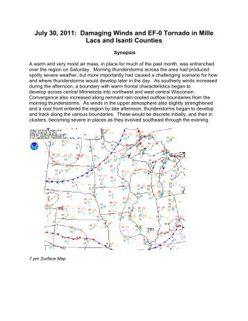 July 30, 2011: Damaging Winds and EF-0 Tornado in Mille Lacs and ...