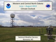 Western and Central North Dakota June – August 2013 Climate ...