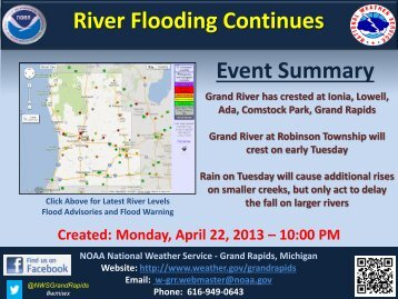 Monday Evening Flood Update - NOAA