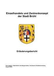 Einzelhandels und Zentrenkonzept der Stadt Brühl