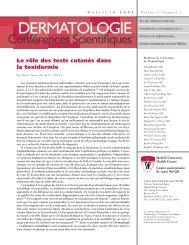 Le rôle des tests cutanés dans la toxidermie - Dermatologie ...