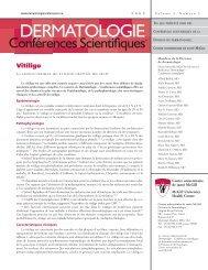 Vitiligo - Dermatologie conférences scientifiques