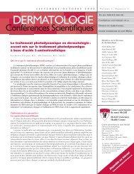 Le traitement photodynamique en dermatologie