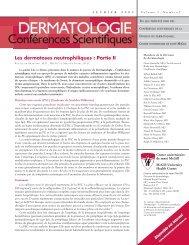 Les dermatoses neutrophiliques : Partie II - Dermatologie ...
