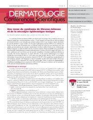 Dermatologie conférences scientifiques