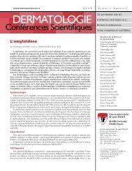 L'amyloïdose - Dermatologie conférences scientifiques