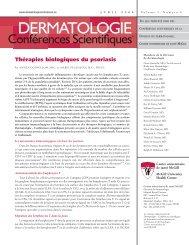 Thérapies biologiques du psoriasis - Dermatologie conférences ...