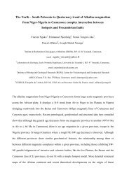 South Paleozoic to Quaternary trend of Alkaline magmatism from ...