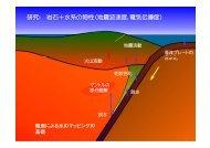 研究: 岩石+水系の物性(地震波速度,電気伝導度) - 岡山大学