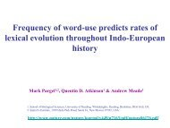 Frequency of word-use predicts rates of lexical evolution throughout ...