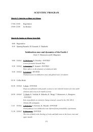 Pdf version of the program - Institute for Study of the Earth's Interior