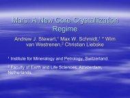 Mars: A New Core-Crystallization Regime