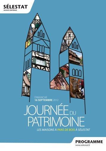 JOURNÉE DU PATRIMOINE - Ville de Sélestat