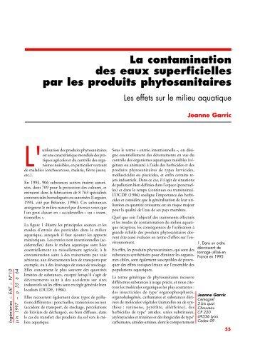 La contamination des eaux superficielles par les produits ...