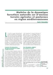 Maîtrise de la dynamique forestière naturelle sur d'anciens terroirs ...
