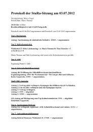 Beschlussprotokoll - StuRa